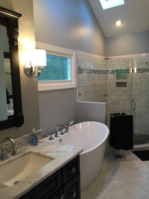 Full shower bath remodel in nc w d smith construction for Bathroom remodel raleigh