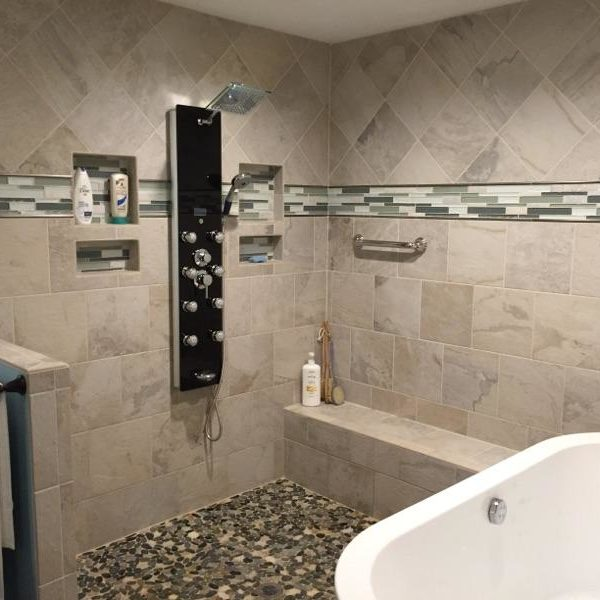 Raleigh custom bathroom remodel